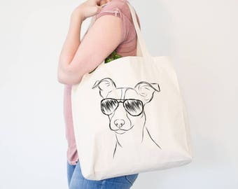 Max the Jack Russell Terrier Tote Bag - Dog Lover Gift