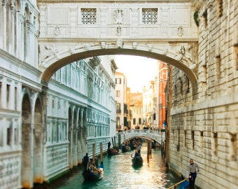 Venice, Italy Photography - Travel, Romantic Wall Art - Bridge of Sighs