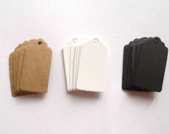 100 mini Tags labels American cardboard 2 cm * 4 cm