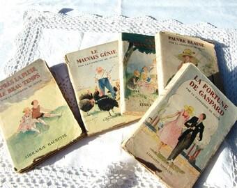 1930 countess de segur vintage french children book, A.Pecoud illustrations