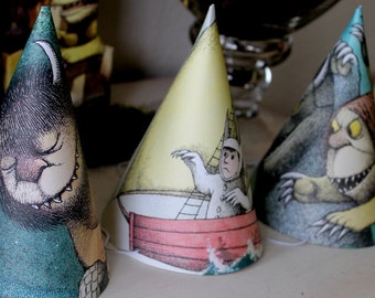 Party Hats PDF where the wild things are party
