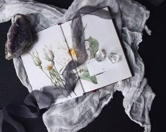 STORM organic hand-dyed silk ribbon