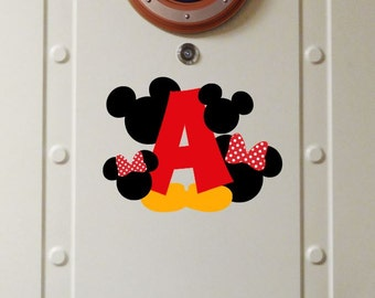 Personalized Family Initial - Disney Cruise Magnet- Door Magnets