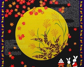 Rabbit Moon Viewing Japanese Furoshiki Wrapping Cloth  Small  Price depends on order volume.