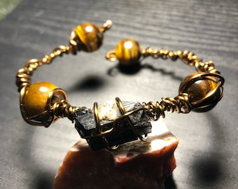 Black Tourmaline and Tiger's Eye