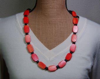 Dyed Genuine Buffalo Bone Necklace