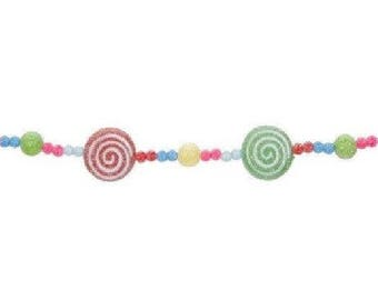 3 ft. Sugared Candy Lollipop Garland