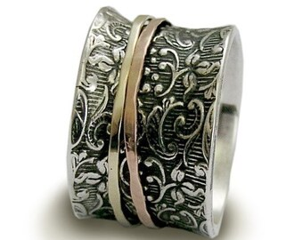 A way of life - Sterling silver integrated 9K rose and yellow gold filigree band.
