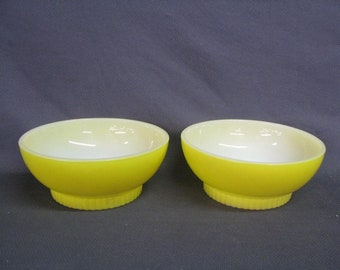2 Yellow Fire King Bowls