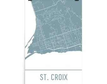 St croix map Etsy