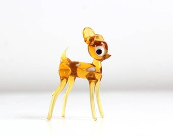 Deer Figurine, Miniature Deer, Terrarium Deer, Deer, Glass Deer, Fairy Garden Deer, Tiny Deer, Glass Deer Figurine, Vintage Deer Figurine