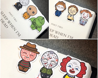 Magnetic Bookmarks (A) / Horror Bookmarks / Double Sided Bookmarks / Pennywise Inspired / Pinhead Inspired / Sam / Freddy vs Jason Inspired