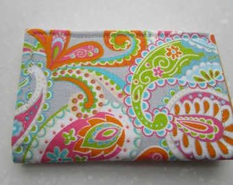 Minimalist Wallet, Business Card Holder, Small Wallet, Travel Wallet, Paisley, Slim Wallet, Credit Card Wallet, Card Case, Vera Bradley