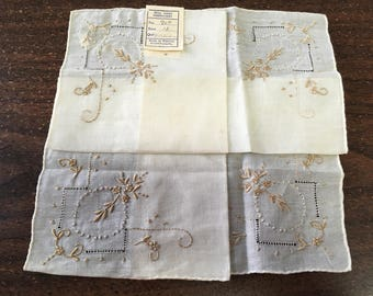 "Vintage 50's ""PORTUGESE HANDKERCHIEF""  Made in Madera Portugal - Great for a Wedding Event"