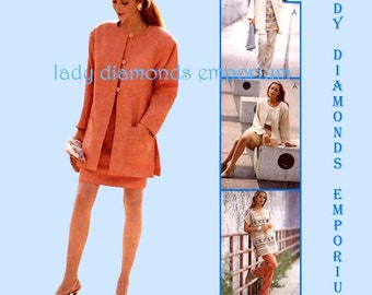 McCalls 7501 Womens Chic Jacket Top Pants Skirt Tunic Suit size 14 16 18 Vintage Mix & Match Wardrobe Sewing Pattern Uncut FF #690 (A)