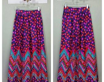 Vintage 70s Maxi Skirt, Bohemian, Hippie