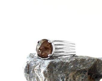 Smokey Quartz Ring in Sterling Silver
