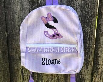 Minnie Mouse Seersucker Backpack