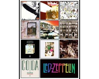 "LED ZEPPELIN album discography magnet (4.5"" x 3.5"")"