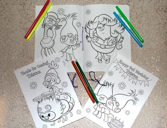 Coloring Pages Trolls : Trolls birthday party coloring pages activity book pdf file