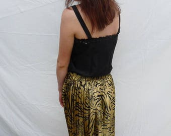 Handmade black satin embroidered camisole