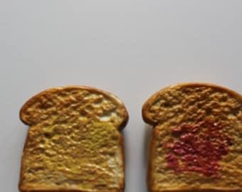 Vintage Vanderbilt Toast Fridge Magnets 1970s
