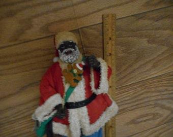 Vintage Black Santa Claus Christmas Possible Dreams Clothtiques Figure No box African American