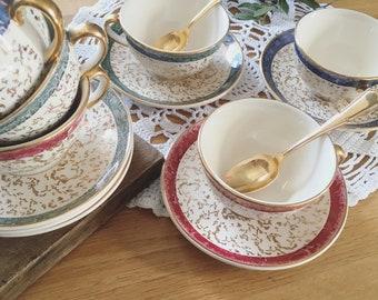 """Tricolor Villeroy & Boch """"Color"""" - 12 pieces coffee set"""
