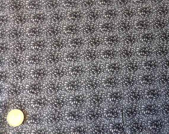 High quality cotton poplin, charcoal blender print