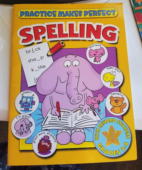 Practice Makes perfect Spelling worksheet book school supply grades 2-4 english