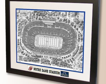 Notre Dame Stadium Art, home of the Notre Dame Fighting Irish