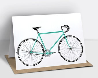 Road bike greetings card (other colours available)