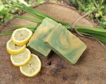 Lemongrass - Natural Handmade Soap - Lemongrass Soap - Lemongrass Essential Oil Soap - All Natural Soaps - Vegan Soap - Vegan Skincare.