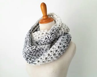Ready to Ship - Infinity Scarf, Wool Scarf, Chunky Scarf, Chunky Snood, Knit Scarf, Circle Scarf, Cowl Scarf, Marble