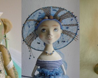 "Set of 5 Cards - ""Assorti N 1"" Art dolls by Tatiana Gurina. Postcards.Greeting cards."