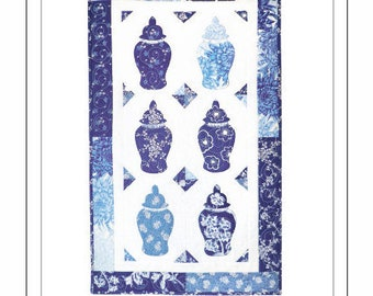 Ginger Jars Wall Quilt Pattern