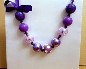 Purple Bubblegum Necklace