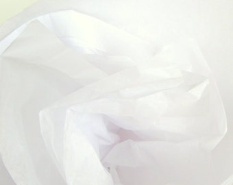 Solid White Tissue Paper, 48 Sheets 20 x 30 in. / 50.8 x 76 cm of Gift Tissue, Wedding DIY, Shower Supplies, Party Supplies