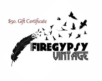 Gift Certificate | 50 Dollar Gift Card | Christmas Gift | Email Gift | Birthday | Last Minute Gift
