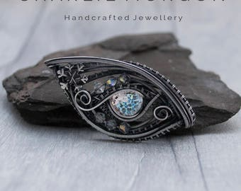Ice Dragon Pendant - Ice Dragon Eye, Gothic Pendant, Evil Eye Necklace, Mother Of Dragons, Dragon Amulet Necklace, Mother Of Dragons,