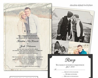 Photoshop Template - Classic Wedding Invitation - Photo Card 151