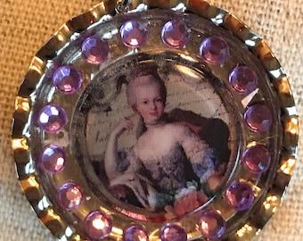 Ooak Necklace pendant Marie Antoinette