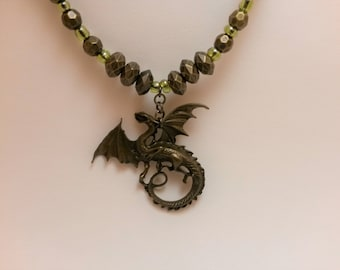 Bronze Dragon Necklace
