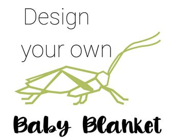Custom Baby Blanket - Baby Blanket - Security Baby Blanket - Toddler Blanket - Minky Baby Blanket - Adult Minky Blanket - Baby Shower Gift