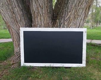 EXTRA LARGE Magnetic Chalkboard 60 x 36 in. - 6 x 3 ft. Chalkboard - Barn wood Rustic Farmhouse Style Chalkboard