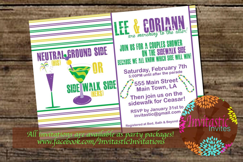 Mardi Gras Theme Couples shower/ Engagement Party New
