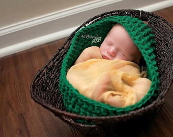 Oval Baby Basket, Newborn Photo Prop, Moses Basket, Crochet Infant, Modesty Cover Option, Baby Boy Bowl, Baby Girl Item, Baby Nest, Babies