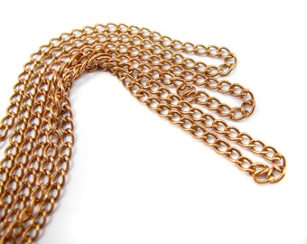 Vintage Brass Curb Chain - soldered (6 Feet) (C547)