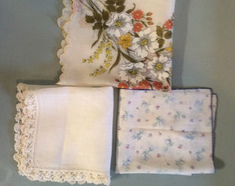Vintage Handkerchief for something old something blue