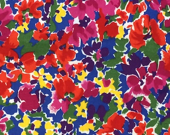 Cotton Fabric / Floral Cotton Fabric / Abstract Floral Fabric / Floral Cotton Fabric